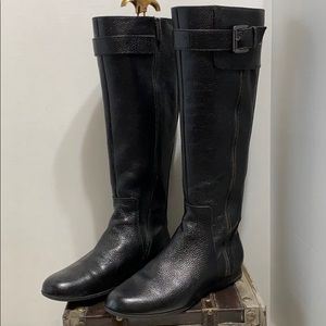 Enzo Angiolini Zayra buckle leather riding boot